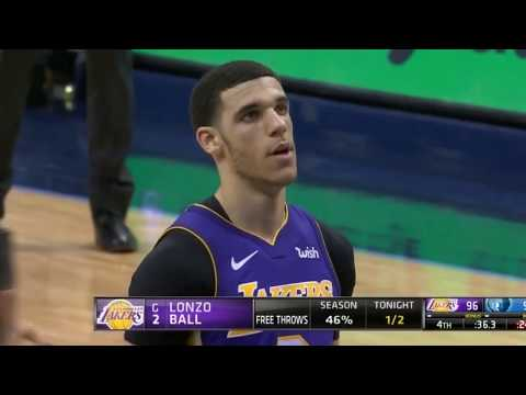 Download Youtube: Lonzo Ball Bricks 2 Freethrows In Crunch Time