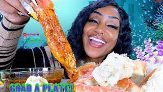Seafood Boil Mega King Crab Legs Mukbang