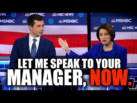 We Should All Feel Bad for Amy Klobuchar's Staffers After Last Night's Debate...