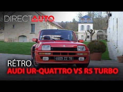 AUDI UR-QUATTRO vs R5 TURBO : On refait le match !