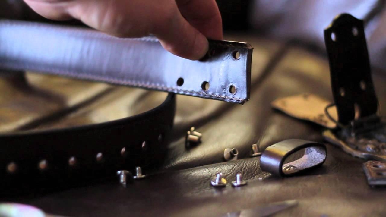 saddleback leather co belt trimming cutting to length