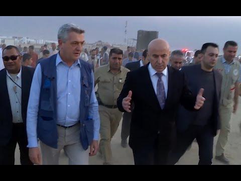 Mosul offensive, Iraq: Debaga Camp - High Commissioner Filippo Grandi visits