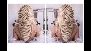 Текстурная коса БЕЗ НАКРУТКИ. Wedding Hairstyle