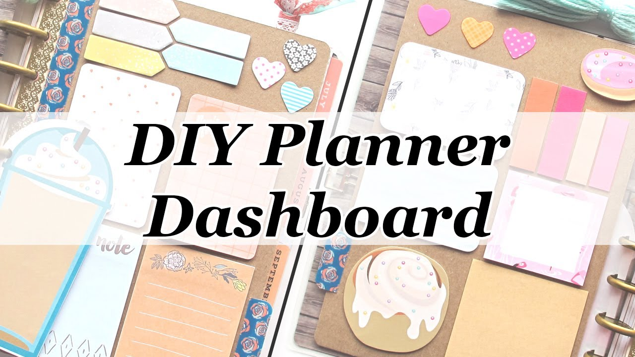 Diy planner dashboard the happy planner youtube for What is a planner dashboard