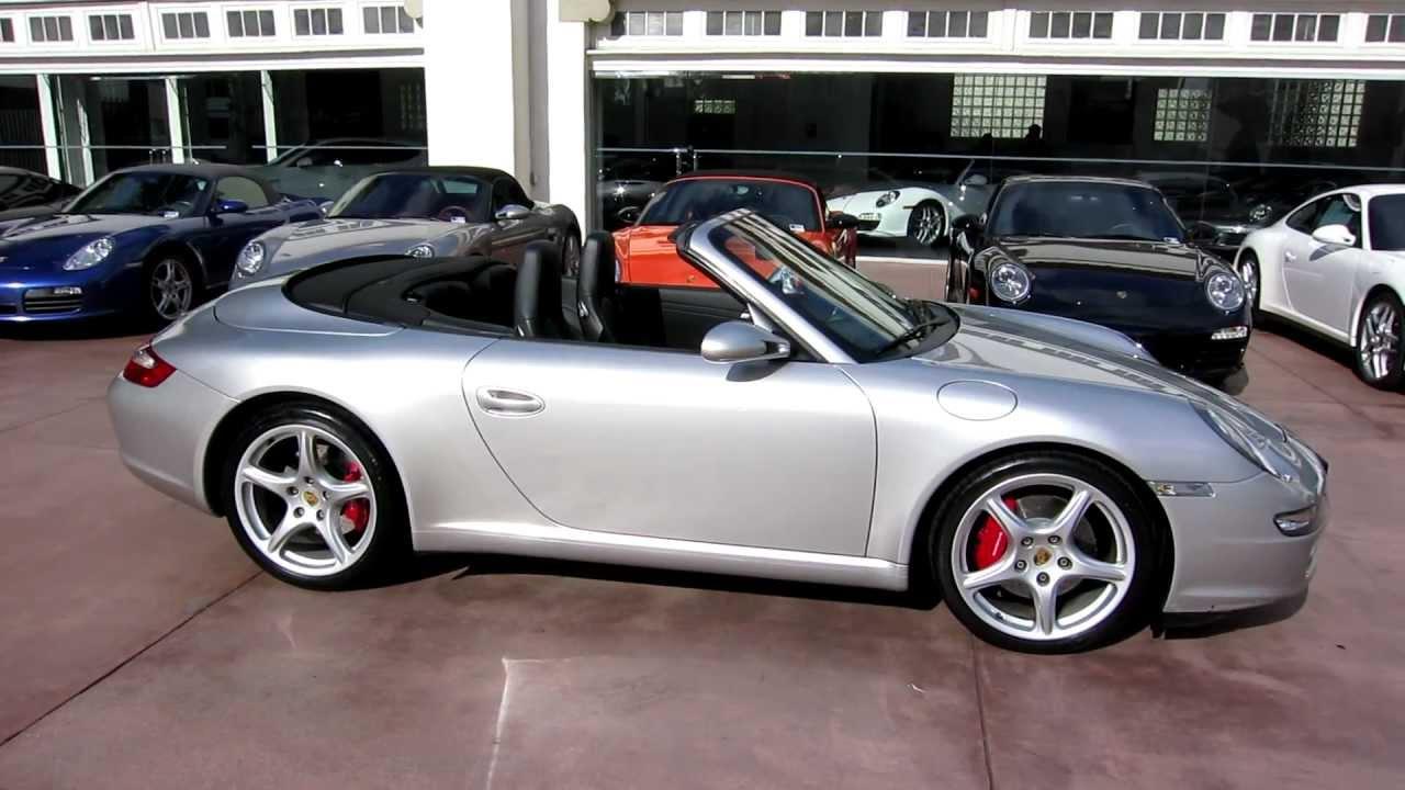 2006 Porsche Carrera S Cabriolet Arctic Silver 22 000 Miles Tiptronic Youtube