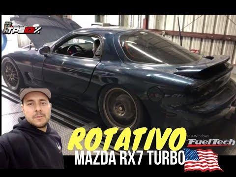 MAZDA RX7 TURBO QUE SOM MEU DEUS - MOTOR ROTATIVO DE FT450 - ACERTO NO DINAMOMETRO