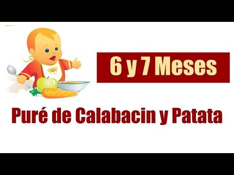 Comida para bebes de 6 y 7 meses pur de calabacin y patata youtube - Pures bebes 6 meses ...
