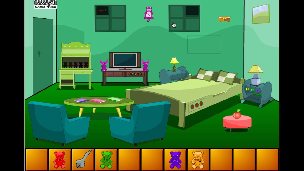 Escape From Green Bedroom - Cartoon For Kids ...