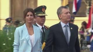 El presidente Macri asistió a la asunción del presidente de Paraguay, Mario Abdo Benitez.