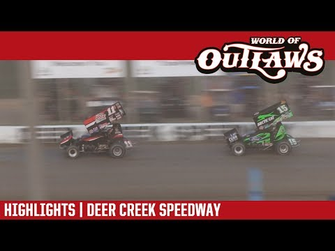World of Outlaws Craftsman Sprint Cars Deer Creek Speedway July 6, 2017 | HIGHLIGHTS