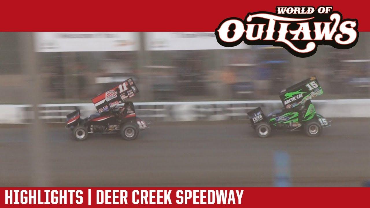 world-of-outlaws-craftsman-sprint-cars-deer-creek-speedway-july-6-2017-highlights