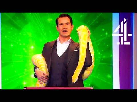 Giant Snake Freaks Out Jimmy Carr, Noel Fielding & Richard Ayoade   Big Fat Quiz Of Everything 2017