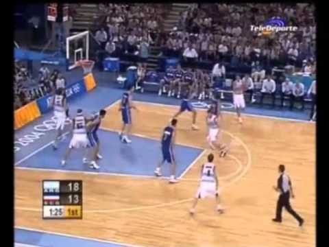 Manu Ginobili 27 points vs. Seriba 2004 Olympics