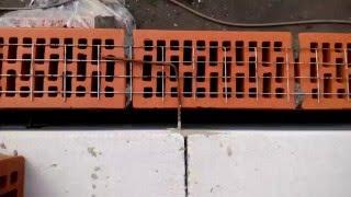 Связка облицовки с газобетоном(Показан пример как я связывал кирпич с газобетоном. Я не профессиональный строитель, делаю пристройку для..., 2016-05-13T13:20:55.000Z)