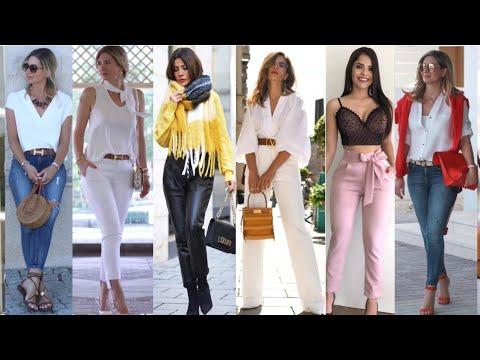 Pantalones De Moda Mujer 2020 Modelos De Pantalones De Mujer En Tendencias Pantalon Casual Y Formal Youtube
