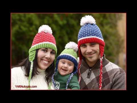 How to Crochet Tutorial: DIY Family Fair Isle Hat by YARNutopia thumbnail