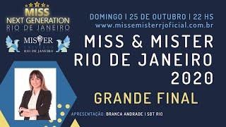 GRANDE FINAL | MISS E MISTER RIO DE JANEIRO 2020 | 25/10/2020