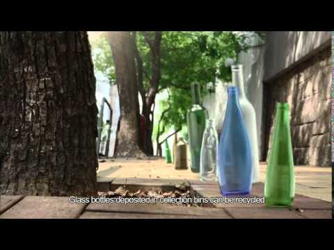 Waste Less! Rinse and Recycle Glass Bottles (Recycling)