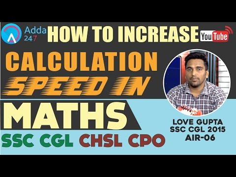 Maths Strategy for SSC CGL/ MTS / CPO Exams