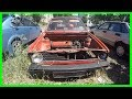 Exploring Old Abandoned Ghost  German Car 1980s Volkswagen Golf. Abandoned Car Found 2017