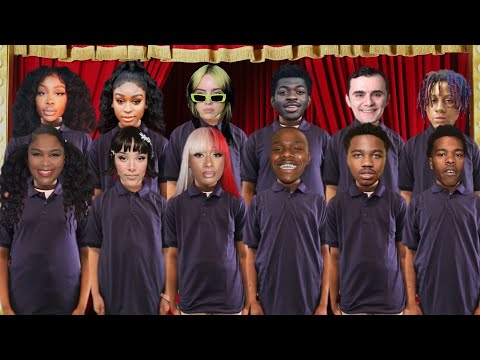 Celebrity Elementary Choir! 😂🔥 @TheKingOfWeird from YouTube · Duration:  3 minutes 38 seconds