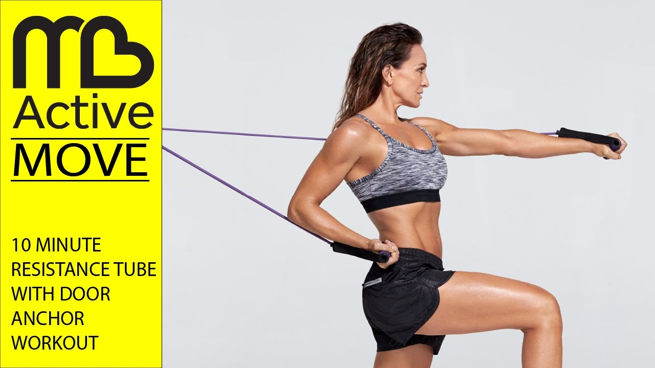 10 Minute Workout - Michelle Bridges Resistance Tube with Door Anchor  sc 1 st  YouTube & 10 Minute Workout - Michelle Bridges Resistance Tube with Door ...