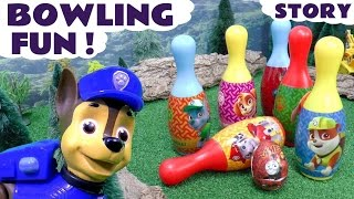 Paw Patrol Bowling Surprise Eggs Fun Toys Play   Justice League Minions Thomas & Peppa Pig Surprises