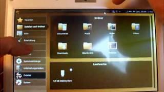 Ubuntu 9.10 Netbook Remix (Netbook-Launcher) Touchscreen Bug by EeePC-Info.de