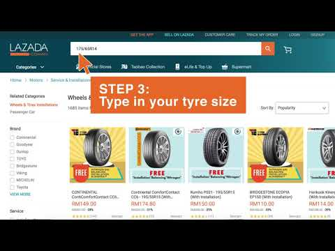 How To Buy Tyre Change Service With Free Installation On Lazada