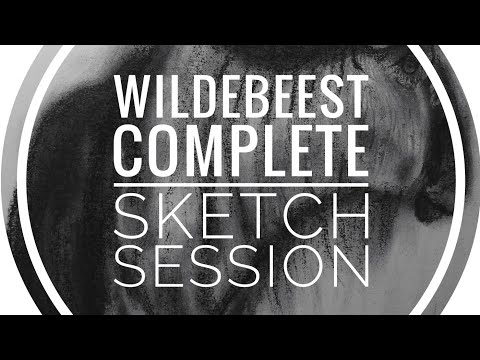[Wildabeest Full Drawing] Real-Time 25-Minute Carbon Pencil Sketch