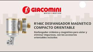 Desfangador magnético compacto Giacomini para separación y eliminación de las impurezas