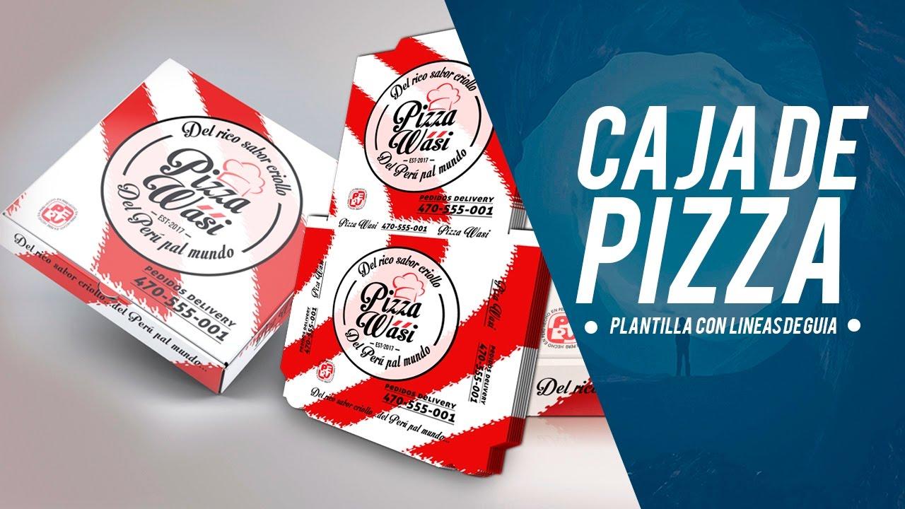Tutorial: Diseño para pizza con plantilla en photoshop - YouTube