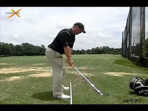 Follow a consistent plane for better compression - by Grexa Golf Instruction
