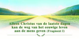 Alleen Christus van de laatste dagen kan de weg van het eeuwige leven aan de mens geven (Fragment I)