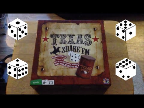 Texas Shake Em Dice Poker Game Unboxing + How To Play