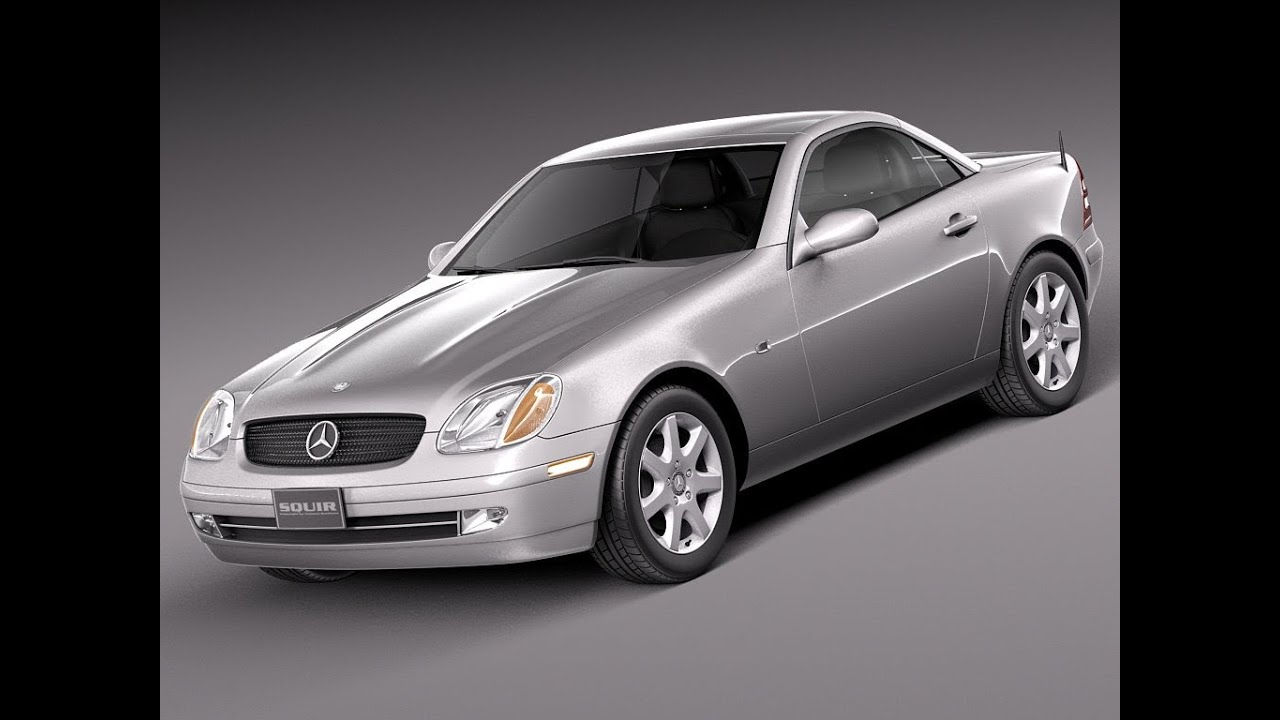 3d model mercedes slk r170 1996 to 2004 at youtube. Black Bedroom Furniture Sets. Home Design Ideas