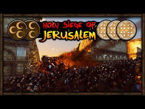 HOLY SIEGE OF JERUSALEM! Medieval Kingdoms Total War 1212 AD Mod Gameplay