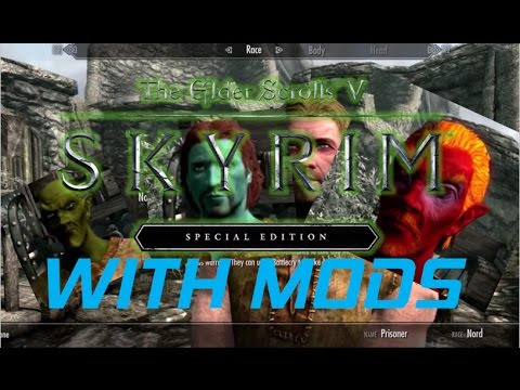 New Races! | Modded PS4 SKYRIM SPECIAL EDITION Character Creator