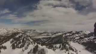 Redd hikes/skis Fantasy Ridge & shot 22 at Solitude, Utah. ski skiing powder