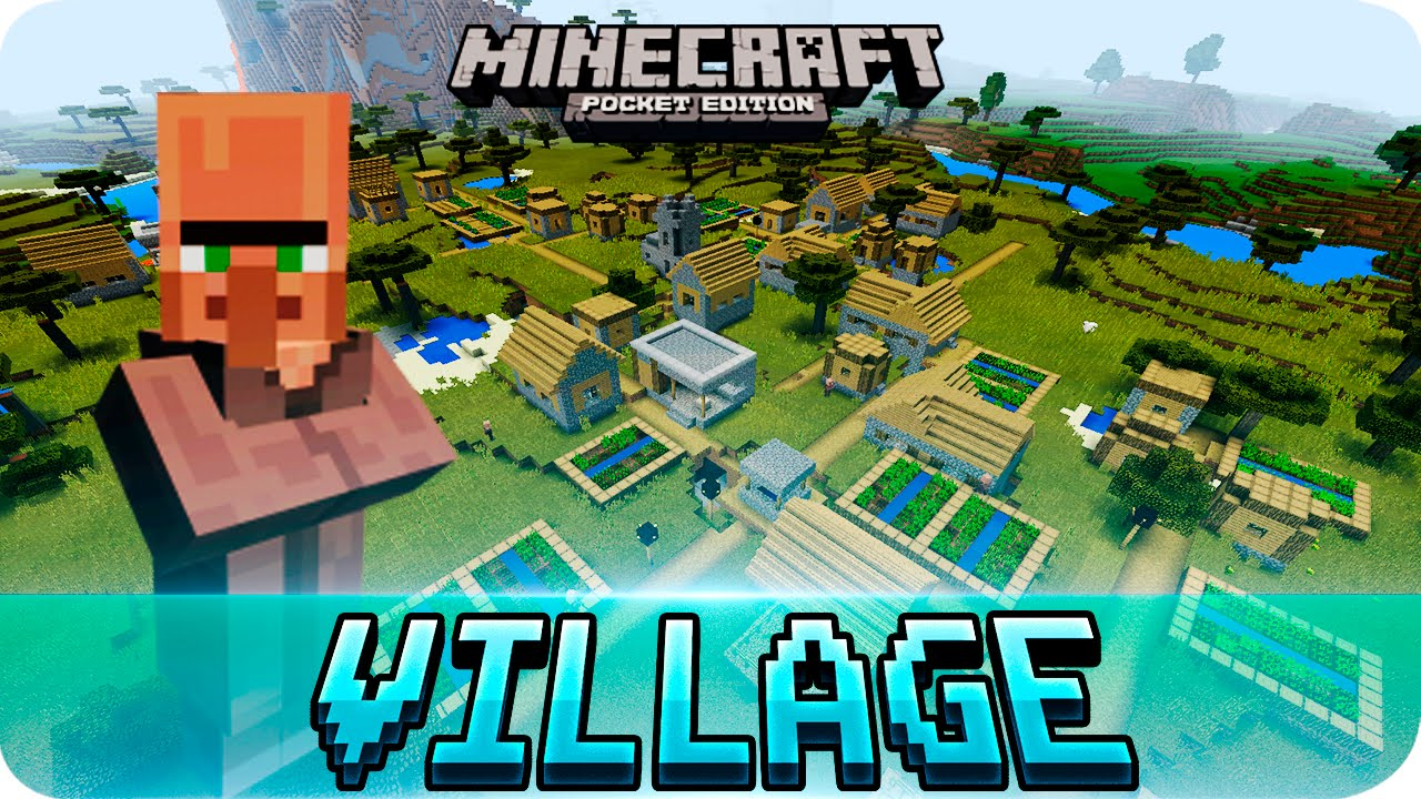 minecraft pe seeds top 3 village seeds with blacksmith mcpe 1 2