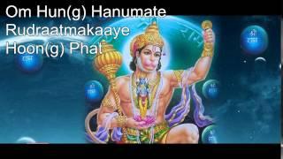 Hanuman mantra - Om Han(g) Hanumate Rudratmakaya Hun Phat 108x