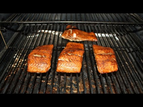 Smoked Salmon Fillets / Traeger Outdoor Grill