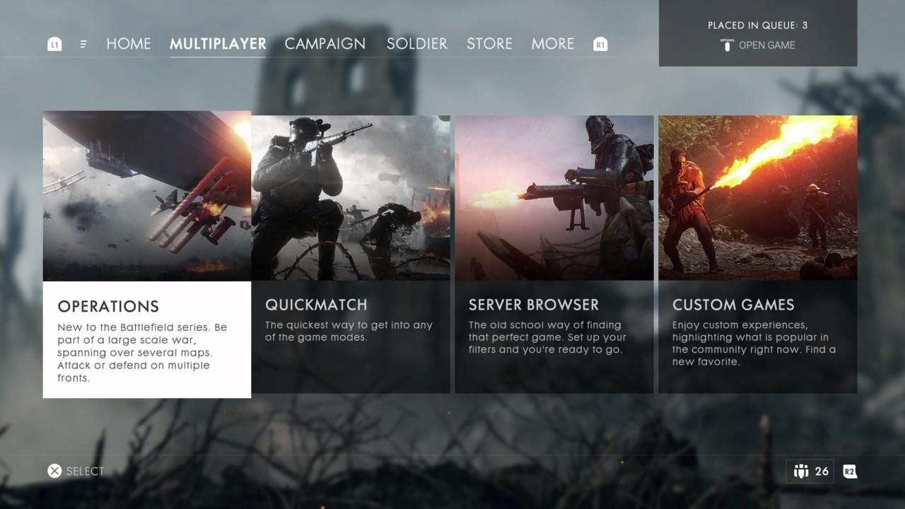 Battlefield play 4 free stuck at loading