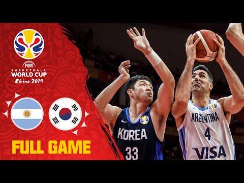 Argentina stun Korea to start the FIBAWC! - Full Game