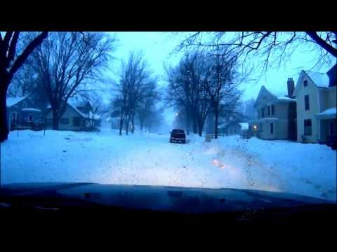 Winter driving in Owatonna, MN.