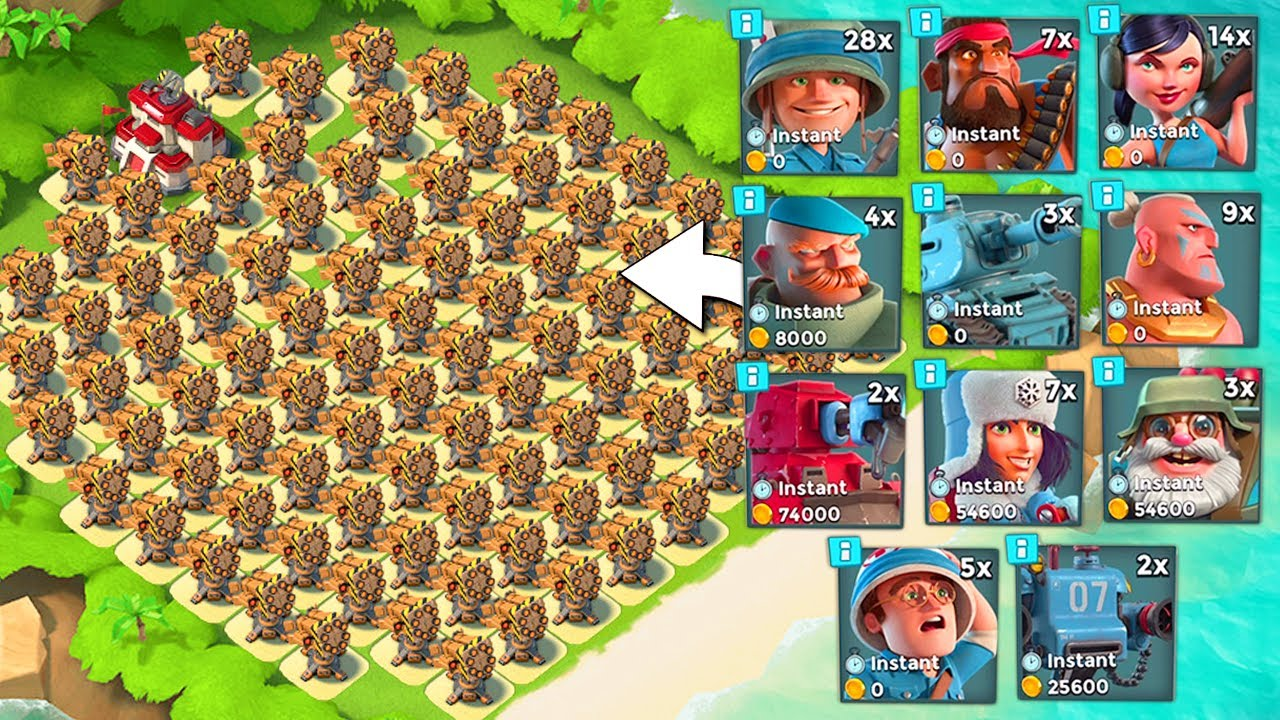 Download All Rocket Launcher Base vs EVERY Troop in Boom Beach