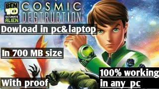 how to downlaod ben 10 cosmic destruction in pc