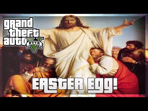 GTA 5 Online: Jesus Wall Painting Easter Egg! - Religious Reference! [GTA V]