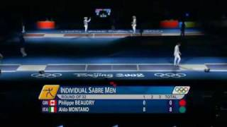 Beijing 2008 Olympics - L32 - Montano ITA v Beaudry CAN