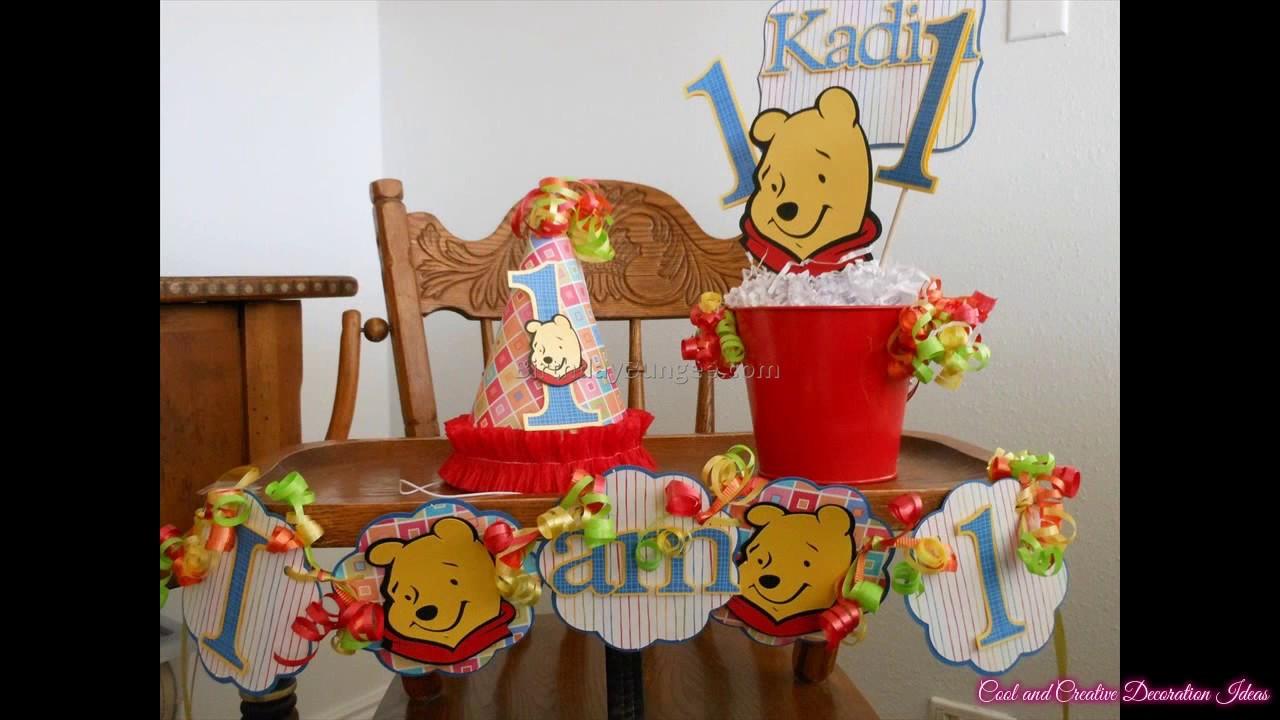 Winnie The Pooh Birthday Decorations - YouTube